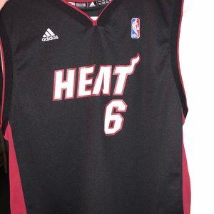 finest selection b3ccd 99210 Lebron James Miami Heat Adidas Jersey